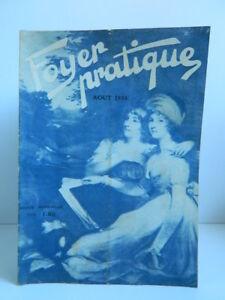 Rivista Il Foyer Pratica Hygiène Naturista E Sociale Agosto 1936