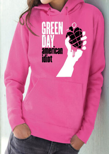 fm10 felpa cappuccio donna GREEN DAY Billie Mike Cool MUSICA
