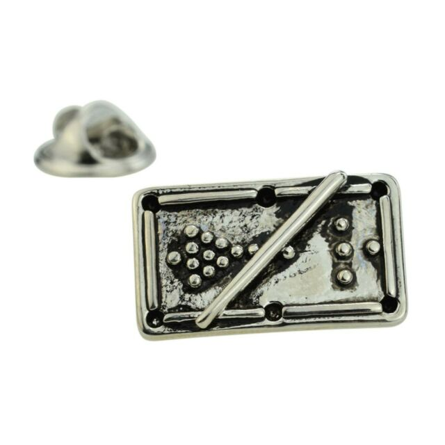 Detailed Snooker Table Metal Pin Badge snooker player crucible AJTP362