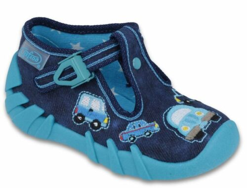 BEFADO boys canvas shoes nursery slippers trainers NEW size 4UK Infant