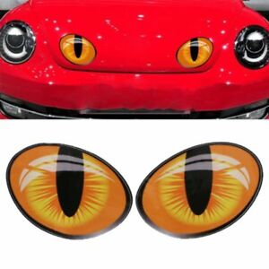 2Pcs-set-Cute-20-7-8-7cm-3D-Cat-Eyes-Car-Stickers-Decoration-Personality-Decal