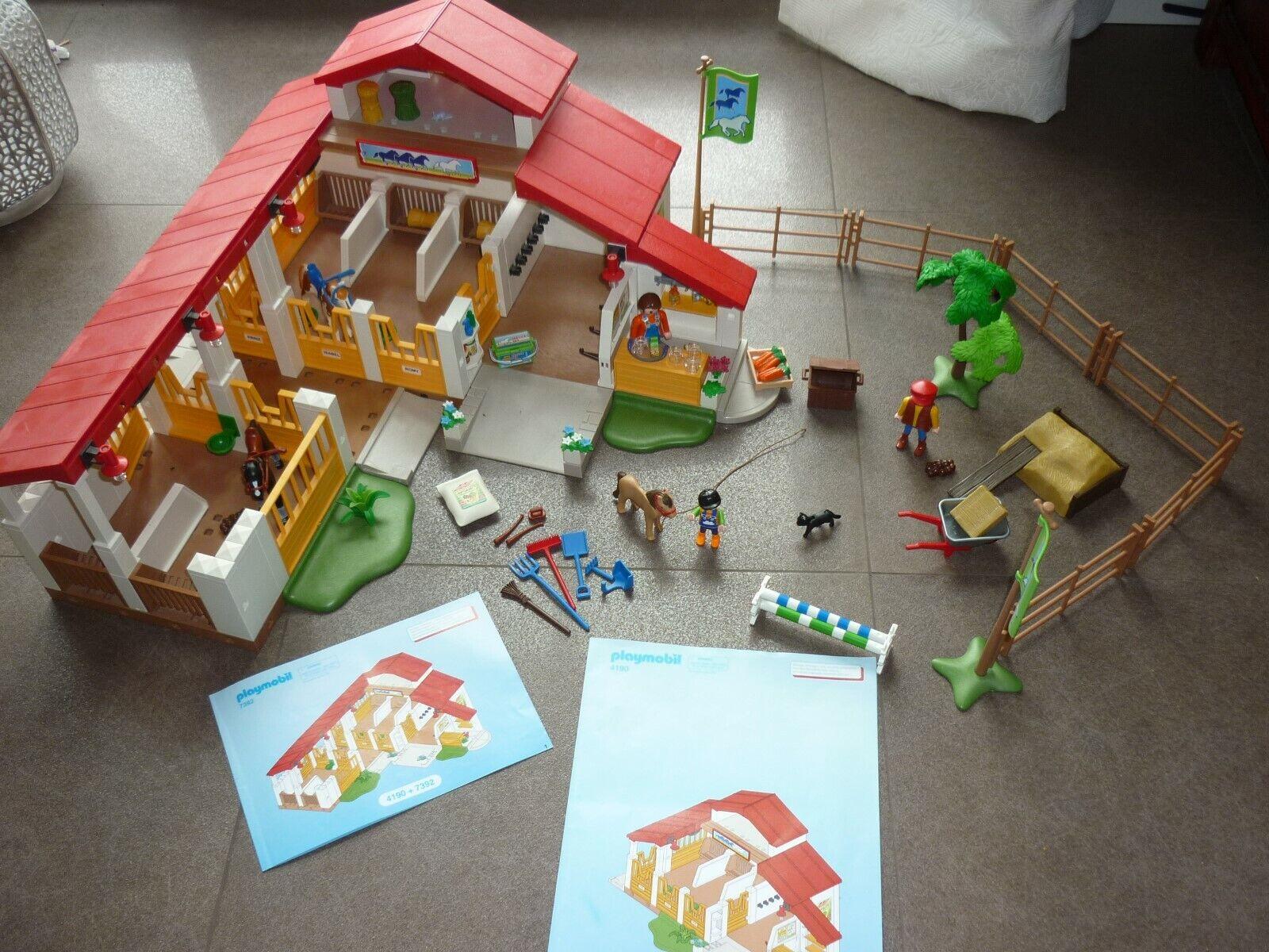 Playmobil 4190 moderner Reiterhof + 7392 Erweiterung TOP Zustand
