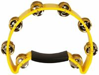 Coda Tambourine Yellow Tamborine Double Row Jingles Ergonomic Handle No Slip