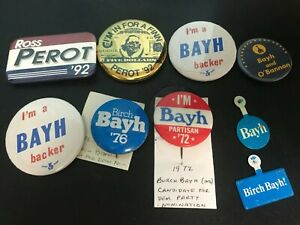 1976 Official I/'m Partisan For Birch Bayh President Campaign Pin Pinback Button