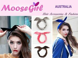 Soft Velvet Ribbon Twist Hair Scarf Headband Head Wrap Hair Tie ... af70dfd6bd0