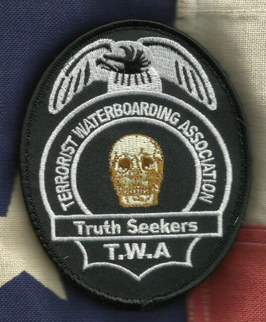 TERRORIST WATERBOARDING ASSOCIATION COMBAT HOOK BADGE MORALE MILITARY PATCH