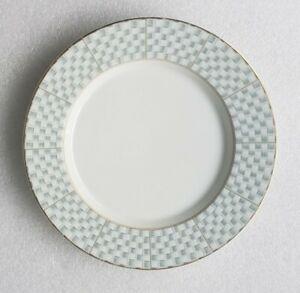 (1) Studio Nova Art Works L9129 BASKETRY Gold Rim China Salad Plate MIKASA Japan