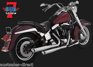 Bubs Motorcycle Slip Exhaust Harley Softail Standard Night Train Heritage 07-12