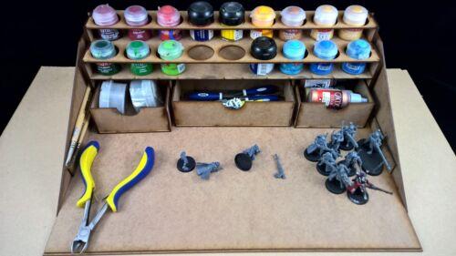 Hobby work station GW warhammer 40k citadel paints rack storage wargames
