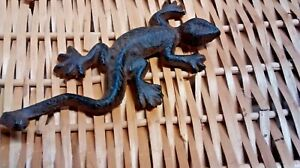 3 cast iron Nautical Lizard Antique Style Coat Hook Hat Rack Towel Rack