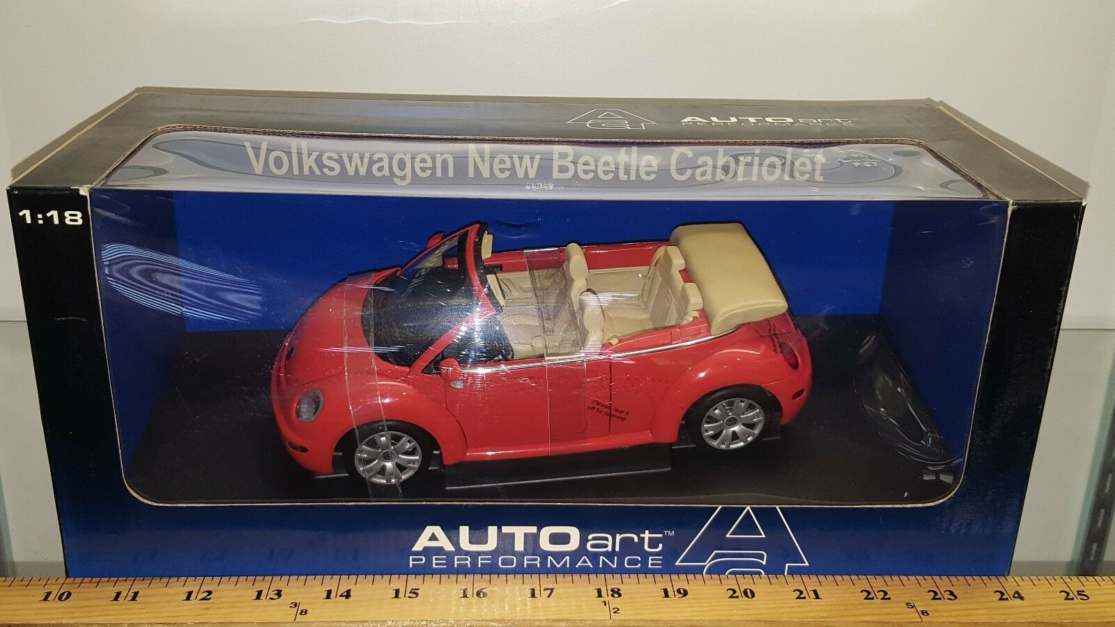 1 18 AUTO ART 2003 VOLKSWAGEN BEETLE Cabrio Sundown Orange BD
