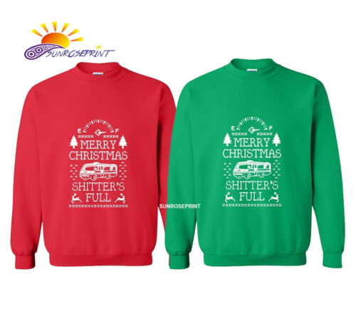 Mens Merry Christmas Shitter/'s Full Long Sleeve CrewNeck Solid Color Sweatshirt