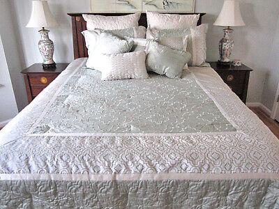 Mint Green Satin Queen Comforter Set Ensemble Ebay