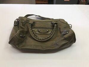 007eddebe5 Balenciaga Paris Stamped N 0754C 115748 3444 Green Leather Handbag ...