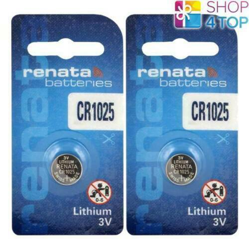 2 renata cr1025 lithium batteries 3v Cell Coin Button swiss made Exp 2024 new