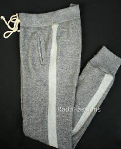 Victoria-039-s-Secret-VS-Jogger-Lounge-Bottoms-Sweat-Pants-Marl-Gray-Stripe-XS