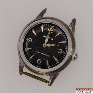 Vintage-Benrus-Swiss-17j-Wrist-Watch-Model-BH-25-For-Shock-Obsorber-Parts-Repair