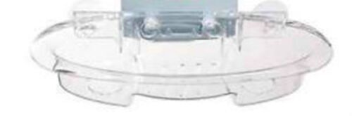 Clear 4 Suction Cup Caddy Bath Tub Shower Mirror Soap Shampoo Razor Soap Holder