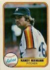 1981 Fleer Randy Niemann #77 Baseball Card