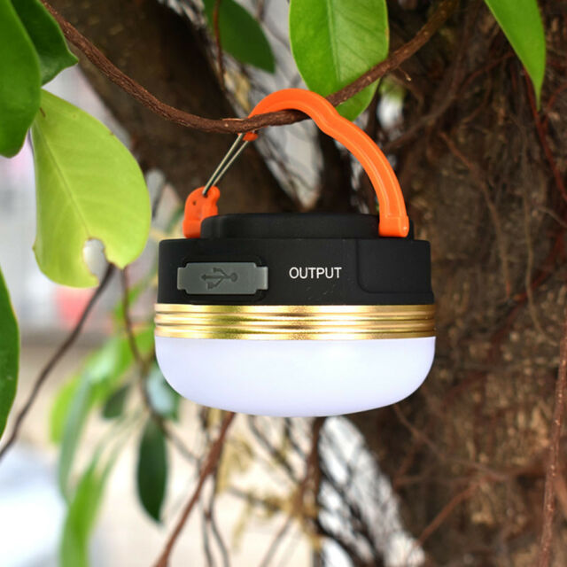 USB Bright Rechargeable LED Camping Tent Fishing Lamp Light Portable Lantern AU