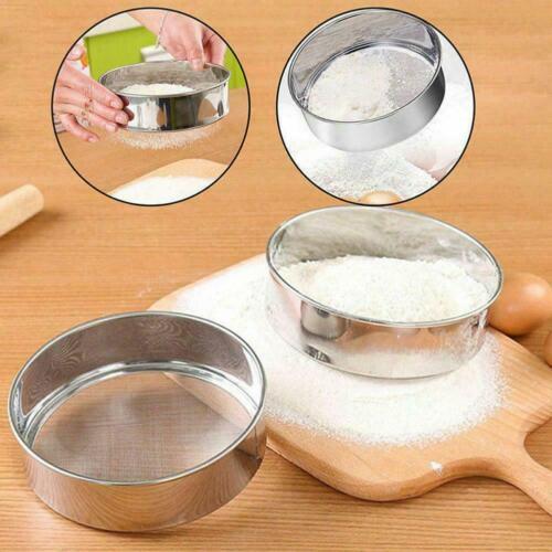 15cm Hand-held Sieve Stainless Steel Flour Round Sampling Sugar Cooking Too T0S1