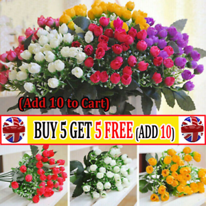 36heads Artificial Silk Flowers Bunch Wedding Home Grave Outdoor Bouquets At Uk Ebay