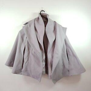 Like-New-Womens-Bagira-OSFA-Grey-Overcoat-Jacket