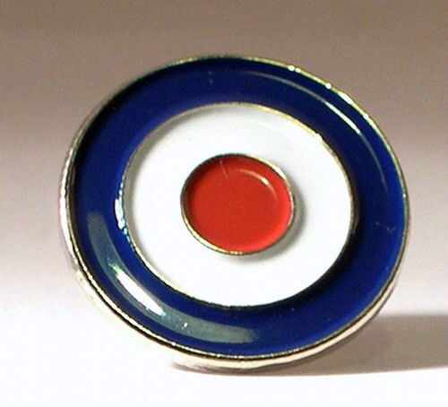 MODS BLUE WHITE RED ROUNDEL PIN BADGE NEW