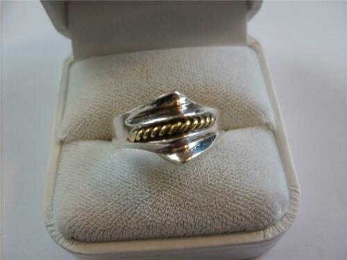 Vintage Taxco Mexican Sterling Silver-Gold Ring