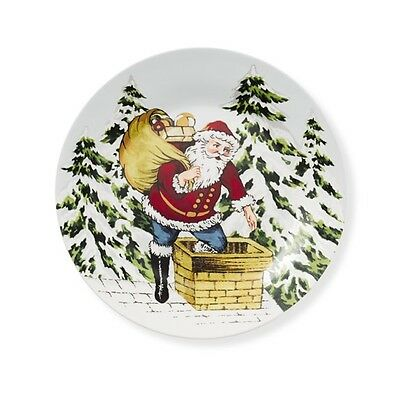 Williams Sonoma Christmas Plates.Williams Sonoma Christmas Vintage Holiday Santa Claus Dessert Plates S 4 Ebay