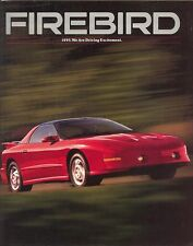 1993 Pontiac Firebird 14-page Car Sales Brochure Catalog Trans Am Formula