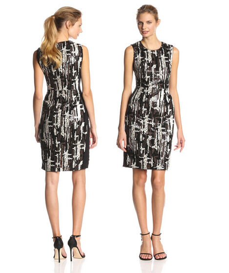 398 NWT BCBG MAX AZRIA Larisa Sleeveless Fitted Sequin Dress Size 4