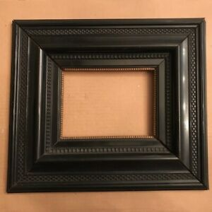 Antique1700s-1800s-Dutch-Ebonized-Picture-Frame-Gilded-Liner-VERY-HEAVY