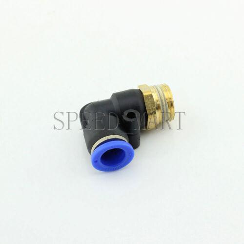 1//2 BSPT Rosca Macho 90 grados tubo de codo rápida Accesorios neumática 12 mm PL12-04