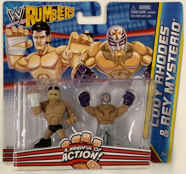 "SDCC 2011 Exclusive WWE Rumblers Rey Mysterio loose 2/"" Figurine Catch MATTEL"