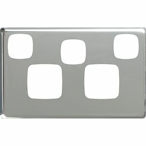 hpm silver cover plate for excel double powerpoint extra switch