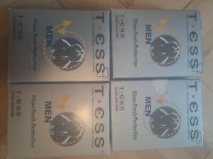 4 Shirts von TESS; Silver-Fresh-Protection; 3-D First Layer System schwarz; XXL