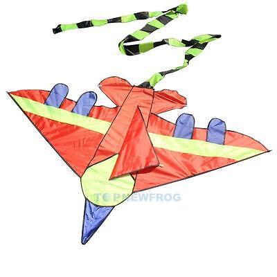 Kid Flying Kite Novelty Airplane Shape Kite Outdoor Fun Sports Children Toy Gift