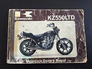 kawasaki owners manual kz550 ltd ebay rh ebay com 1980 Kawasaki 550 LTD 1981 Kawasaki KZ550