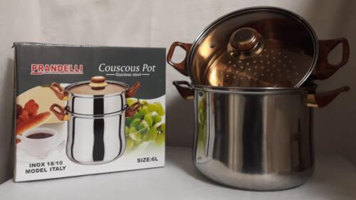 6 L couscous Casserole Vapeur Garer couscous couscoustopf pour Pâtes Spaghetti.. Maroc