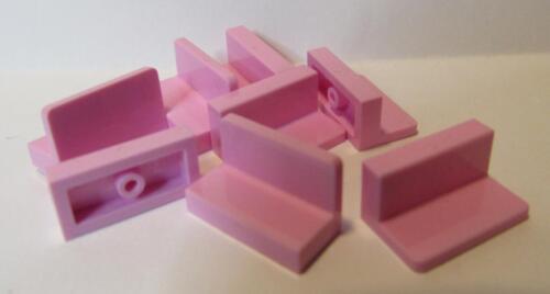 8 Peças De Lego ~ Painel de 1 X 2 X 1 ~ 4865 Rosa Brilhante