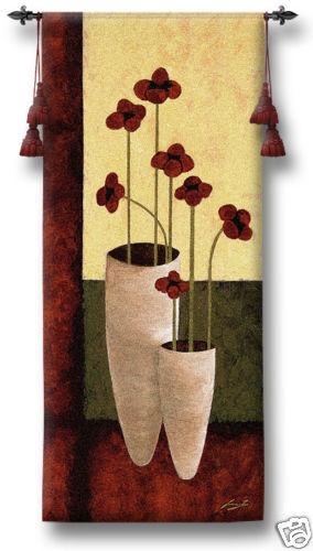 Bouquet De Sept Contemporary Floral Tapestry Flowers 27 x62