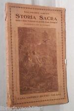 STORIA SACRA Antico e nuovo testamento scuole elementari Dolores Agresti 1924 di