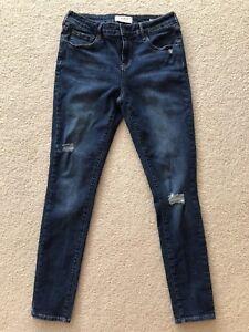 Pacsun Women s Jeans 28 Low Rise Skinniest Skinny Denim Destressed ... f52bae5f6