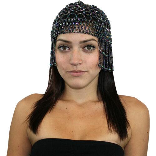 Women Beaded Cleopatra Belly Dance Headpiece Head Piece Costume Hip Shakers