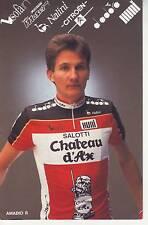 CYCLISME carte cycliste AMADIO ROBERTO équipe CHATEAU D'AX 1989