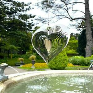 Heart Wind Spinner Beating Wind Catcher For Yard Garden Decor Outdoor Hanging UK