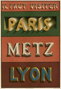 Paris-Lyon-Metz-Alphabet-Typographie-Caracteres-Vintage-lithographie-XIXe