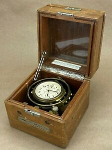 Hamilton-Model-22-Marine-Chronometer-1942-WII-VINTAGE-US-NAVY-SHIP-CLOCK