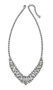 Fiorelli-Costume-Jewellery-Fancy-Clear-Crystal-Bib-Necklace